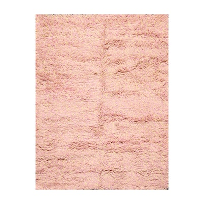 LoomBloom Hand Made Baby Pink, Light Gold Persian Wool Modern & Contemporary Oriental Area Rug (5x7)