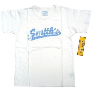Smith's American White Distressed Tee T-Shirt M/L *NEW*