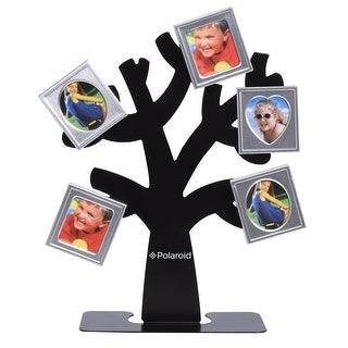 Polaroid Family Tree Frame - Tree with Stand & Five Magnetic Mini-Picture Frames (Black) For Zink 2x3 Photo Paper Projects