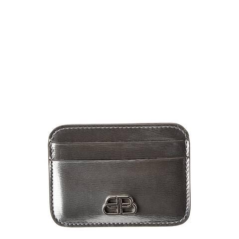 Balenciaga Bb Metallized Leather Card Holder - 8110 - NoSize