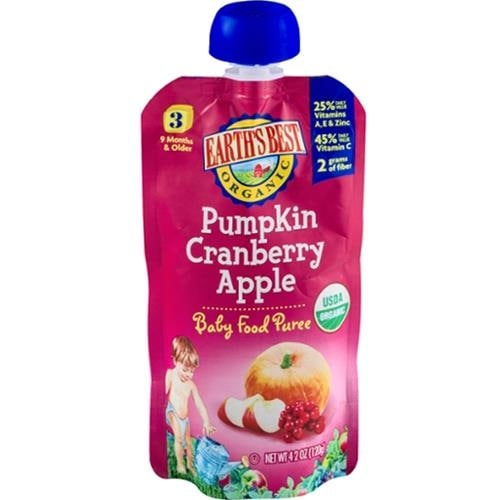 Earth's Best - Organic Pumpkin Cranberry Apple Puree ( 12 - 4.2 OZ)