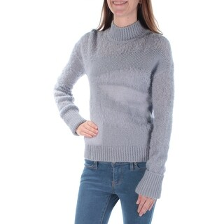 Womens Gray Long Sleeve Turtle Neck Casual Sweater Size S
