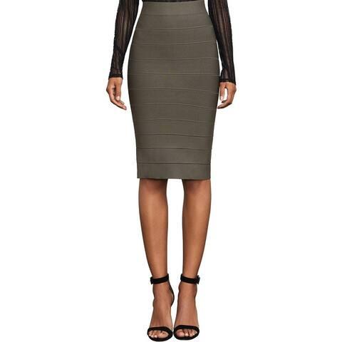 BCBG Max Azria Womens Leger Straight Skirt Knit Knee-Length