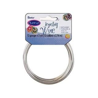 Darice Jewelry Wire Aluminum 12Ga 3yd Silver