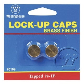 Westinghouse 70169 Ceiling Glass Lock-Up Cap, Brass Plated