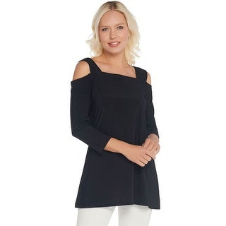 Link to Attitudes by Renee Womens Como Jersey 3/4 Sleeve Tunic Plus 3X Black A301358 Similar Items in Loungewear