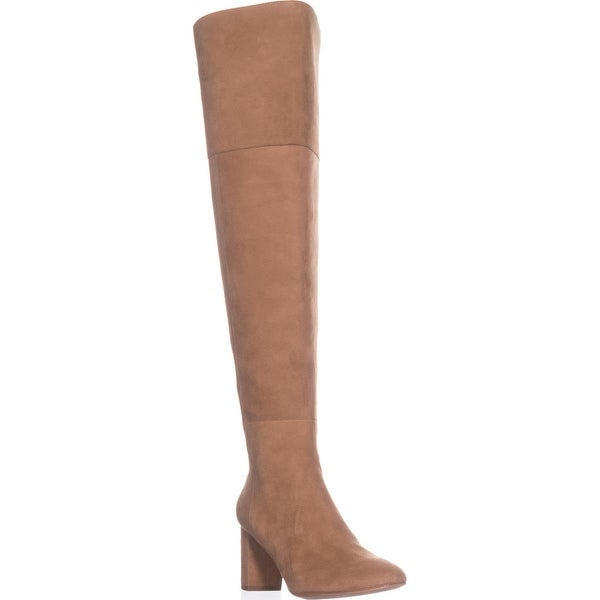 Loeffler Randall Brett Over The Knee Dress Boots, Dark Camel - 9.5 us