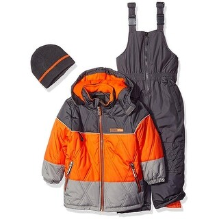 iXtreme Boys 4-7 Colorblock Snowsuit Set - Orange