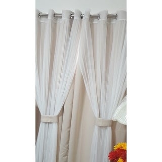 Aurora Home Mix Match Curtains Blackout And Tulle Lace