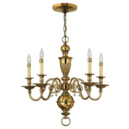 Hinkley Lighting H4415 Cambridge 5 Light 1 Tier Candle Style Chandelier