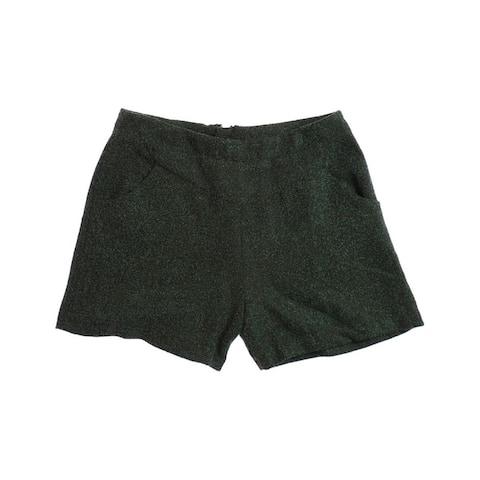 W118 Womens Rebecca High Waist Dress Walking Shorts, green, Small