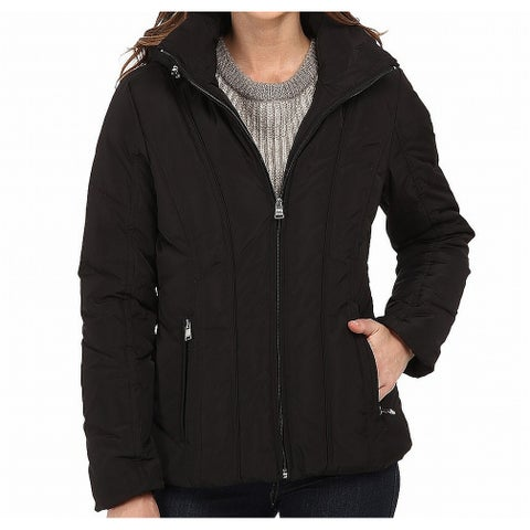 Calvin Klein Deep Black Womens Size Medium M Short Down Jacket
