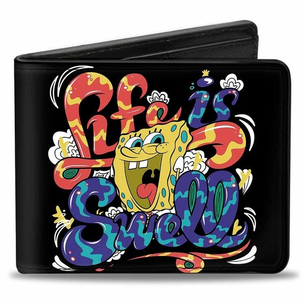 Sponge Bob Life Is Swell Swirl Bi Fold Wallet - One Size Fits most
