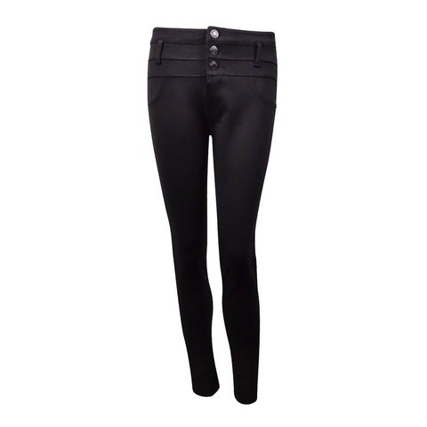 Celebrity Pink Juniors' 3-Button Ponte Skinny Pant