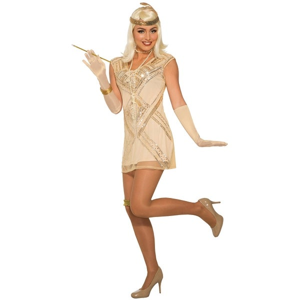 a74b0c7d4c Shop Forum Novelties Beaded Flapper Adult Costume (M L) - Gold - Medium  Large - Free Shipping On Orders Over  45 - Overstock.com - 22361374