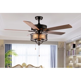 """52"""" Sirius 5 Blade Chandelier Ceiling Fan with Pull Chain and Light Kit Included"""