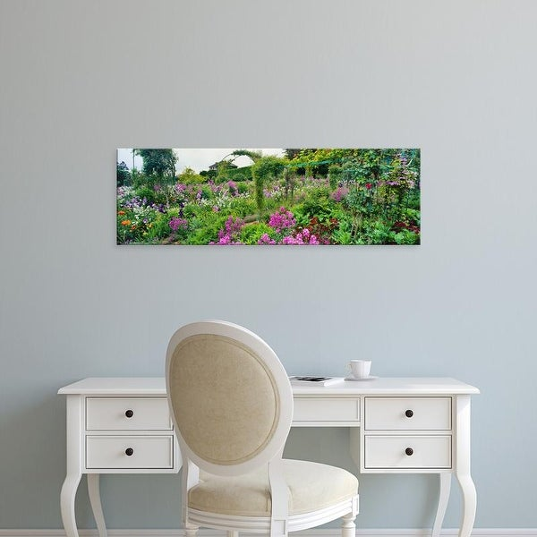 Easy Art Prints Panoramic Images's 'Garden of Claude Monet's House, Giverny, France' Premium Canvas Art