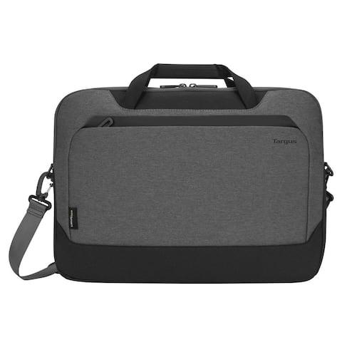 "Targus 15.6"" Cypress Briefcase with EcoSmart® (Light Gray) - TBT92602GL"