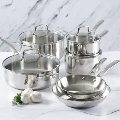Martha Stewart 10-piece Stainless Steel Cookware Set