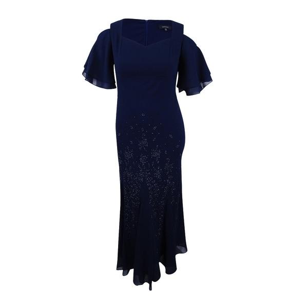 67edc3ec0c5 Shop R   M Richards Women s Embellished Cold-Shoulder Gown (12