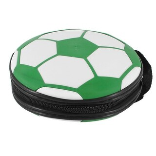Unique Bargains Football Style Zipper Closure 24 Slots CD VCD Storage Holder Wallet Case