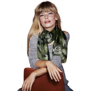 Green Bay Packers Sheer Camo Fashion Scarf