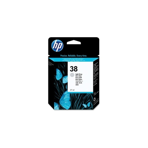 HP 38 Light Gray Pigment Original Ink Cartridge (C9414A) (Single Pack)