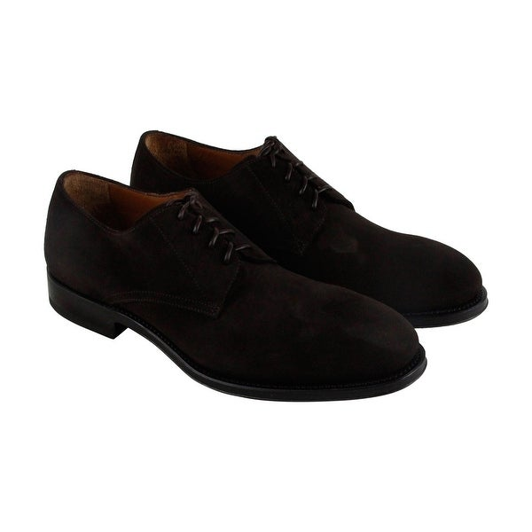 Aquatalia Vance Mens Brown Suede Casual Dress Lace Up Oxfords Shoes