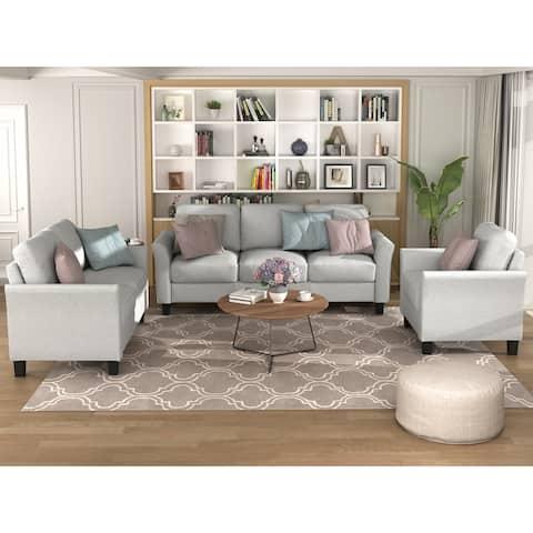 Living Room Sets Furniture Armrest Sofa Single Chair Sofa Loveseat Chair 3-Seat Sofa (ChairLoveseat Chair&3-Seat Sofa)