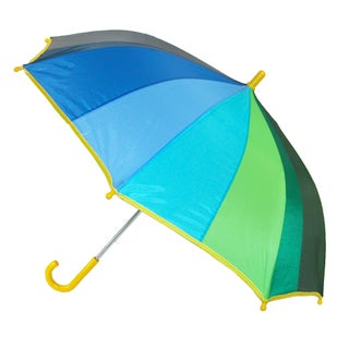 CTM® Kids' Rainbow Color Stick Umbrella with Hook Handle - One size