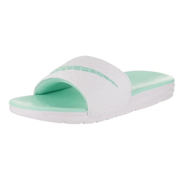 db213775aac56d Nike Womens Benassi Solarsoft Slide 2 Sandal White Artisan Teal -  white artisan teal