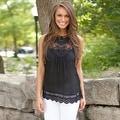 Fashion Women Summer Vest Top Sleeveless Blouse Casual Tank Tops T-Shirt Lace - Thumbnail 14
