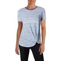 Lauren Ralph Lauren Womens T-Shirt Linen Striped