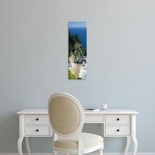 Easy Art Prints Panoramic Image 'Beach, McWay Falls, Julia Pfeiffer Burns State Park, Big Sur, California' Canvas Art