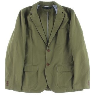 Tommy Hilfiger Mens Two-Button Suit Jacket Partially Lined Cotton|https://ak1.ostkcdn.com/images/products/is/images/direct/5b934aff2ed55cb6540518b78e87267748b85369/Tommy-Hilfiger-Mens-Two-Button-Suit-Jacket-Partially-Lined-Cotton.jpg?impolicy=medium