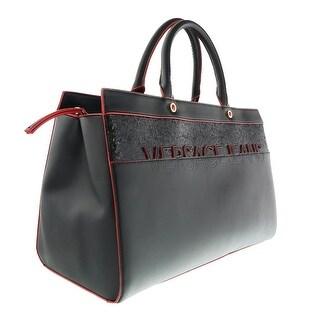 Versace EE1VOBBO1 E899 Black Glitter/Red Top Handle - black glitter/red - 15-10-7