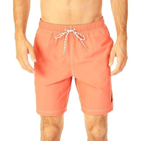 Nautica Mens Shorts Orange Size 2XL Comfort Waist Trunks Swimwear