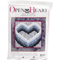 "Open Heart Wall Quilt Kit-22""X22"""