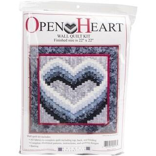 """Open Heart Wall Quilt Kit-22""""X22"""""""