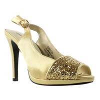 Annie Shoes Womens Xf3577-C6-W Gold Slingbacks Size 6 (C,D,W)