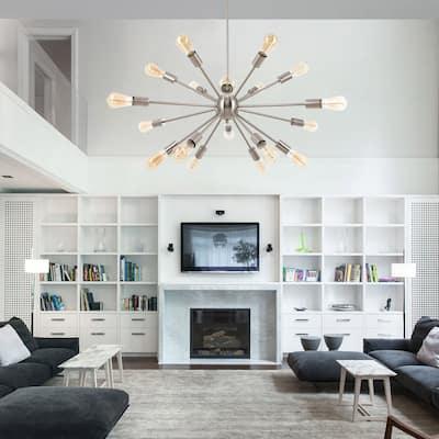 CO-Z Modern 18-Light Sputnik Chandelier Ceiling Light