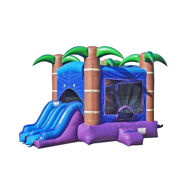 Enchanted 13.5' x 17.5' Bounce House with Slide and Air Blower (Pool attachment sold separately). Opens flyout.