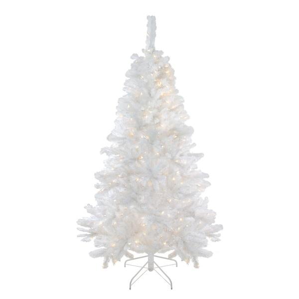 Shop 7 5 Pre Lit Medium White Iridescent Pine Artificial Christmas