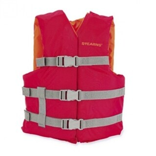 Stearns 3000004472 Youth Classic Series Boating Life Vest, Red, 50-90 Lbs