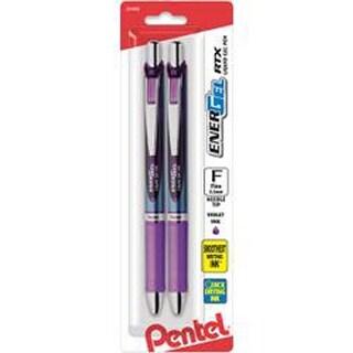 Violet - Energel Rtx Retractable Liquid Gel Pen .5Mm 2/Pkg