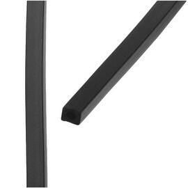 Beadalon Neoprene Rubber Tubing, 4x4mm Square Cord, 3.28 Feet, Black
