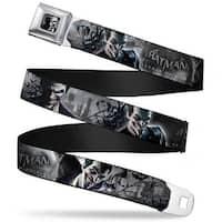 Joker Face Bats Close Up Full Color Grays Batman Arkham Origins Joker Seatbelt Belt