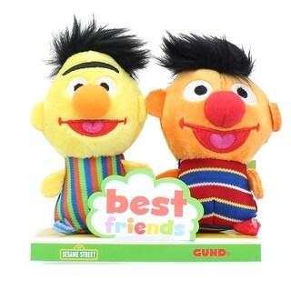 Sesame Street Bert and Ernie 4 Inch BFF Plush Set - Orange