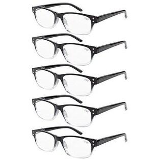 758f98ec91cc Shop Eyekepper 5-pack Spring Hinges Vintage Reading Glasses Readers Black/Clear  +0.50 - Free Shipping On Orders Over $45 - Overstock - 15946905
