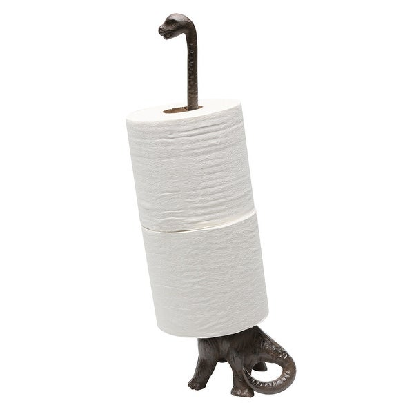 Metal Dinosaur Paper Towel and Toilet Paper Holder